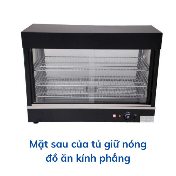 Mặt say của tủ giữ nóng đồ ăn kính phẳng