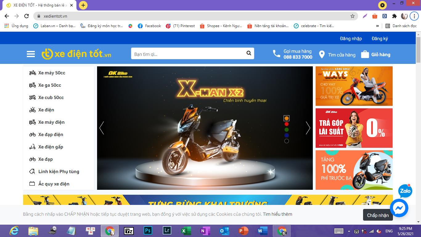 Website Xe Điện Tốt
