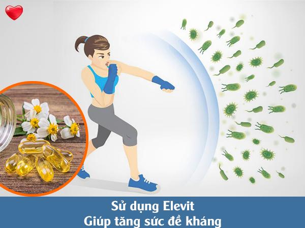 Chuan bi mang thai uong Elevit vitamin E tăng sức đề kháng
