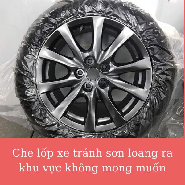 Che lốp xe tránh sơn loang