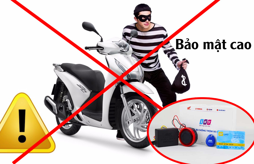 Tính năng/ chức năng khóa chống trộm xe máy thẻ từ - iky bike - bảo mật cao