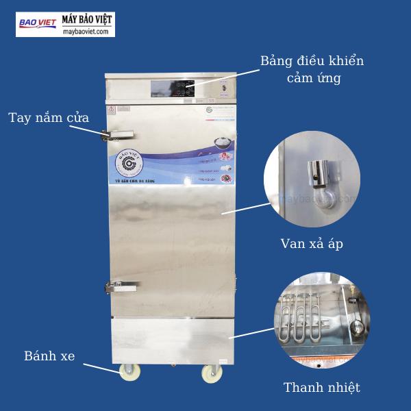 Tổng quan thiết kế tủ nấu cơm công nghiệp bằng điện