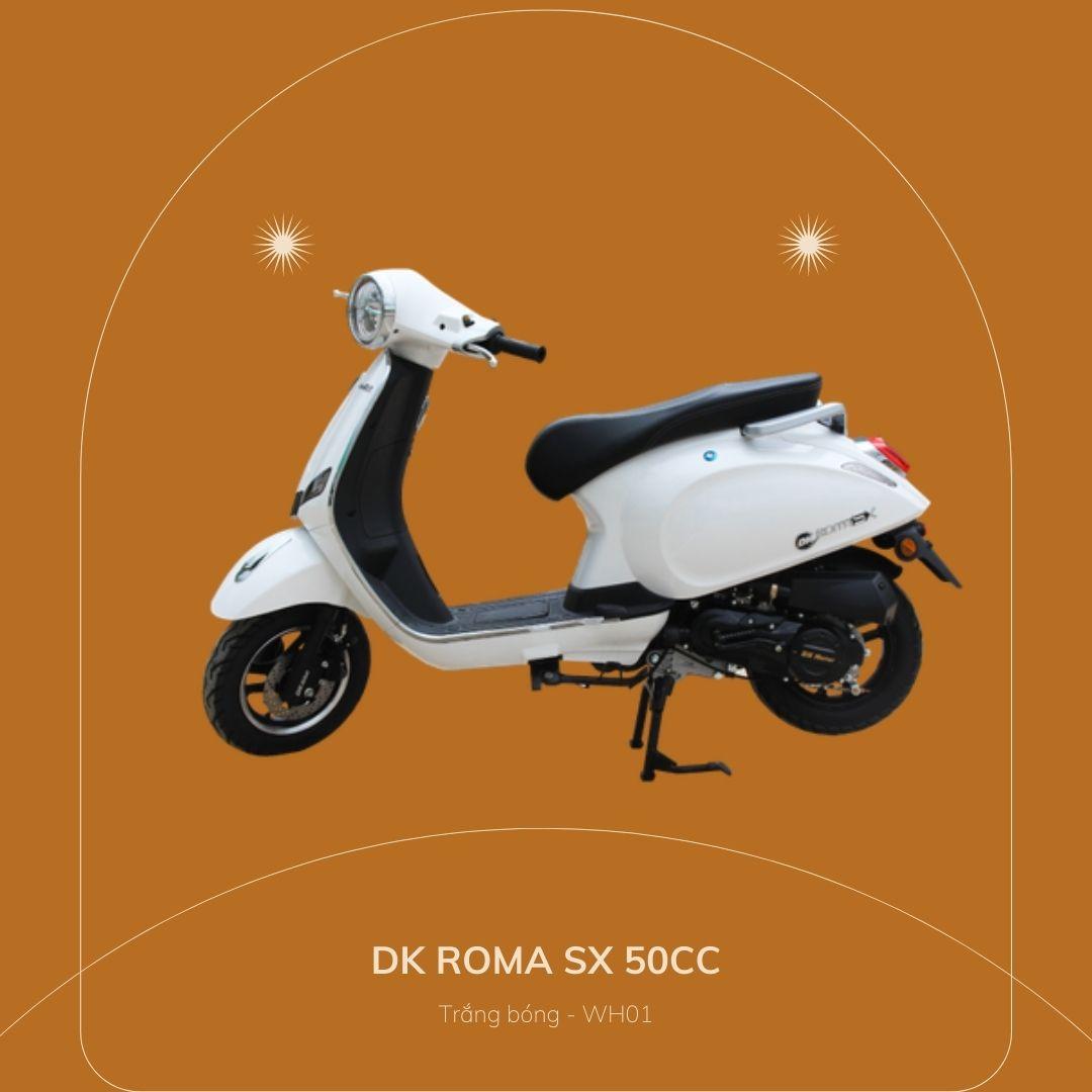 DK roma SX 50cc Trắng bóng