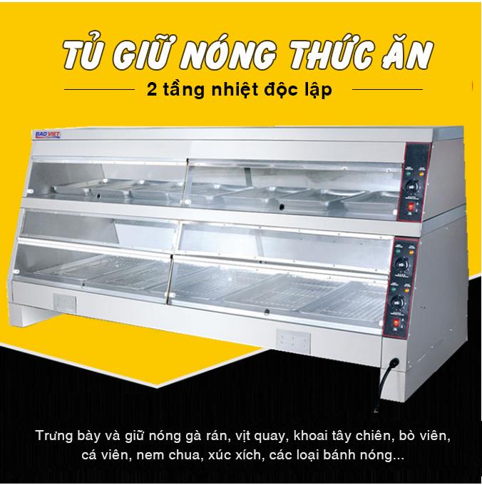 Tủ giữ nóng thức ăn Bảo Việt 2 tầng nhiệt độc lập