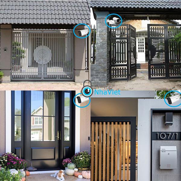camera giám sát an ninh lắp tại cổng