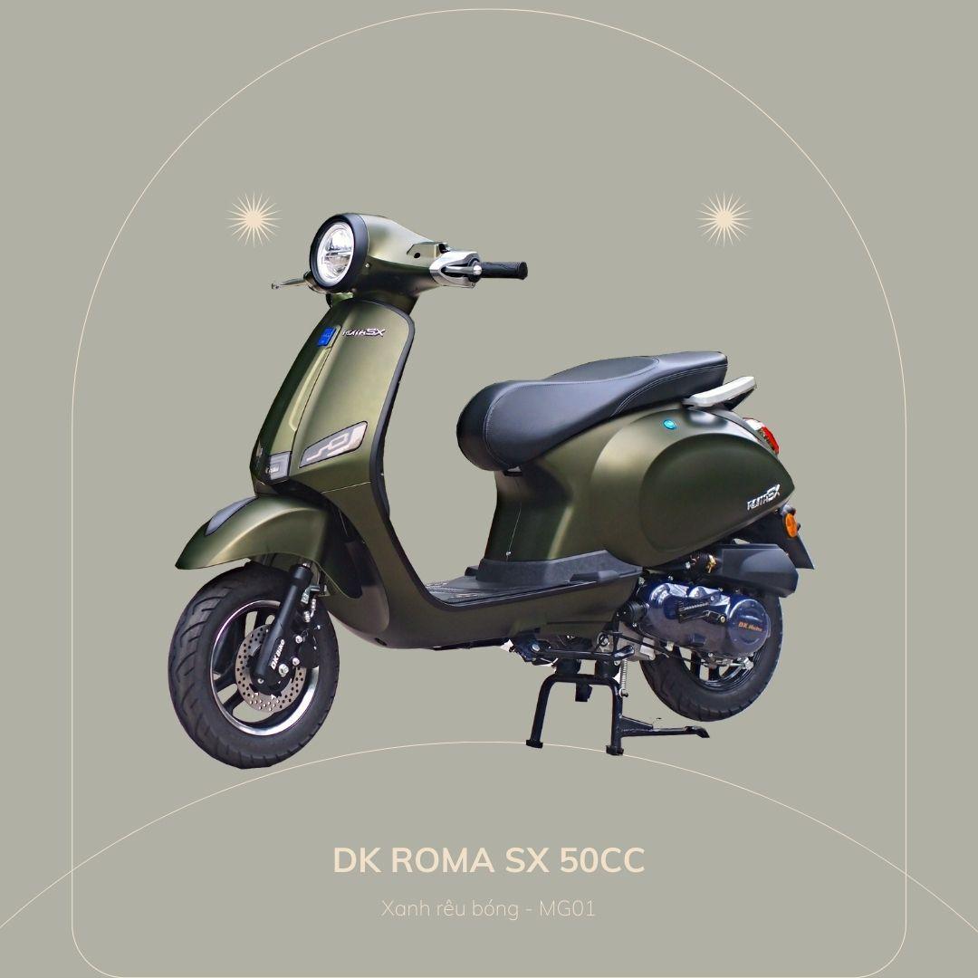 DK roma SX 50cc Xanh rêu