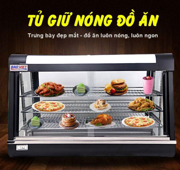 Tủ giữ nóng thức ăn Bảo Việt kính phẳng