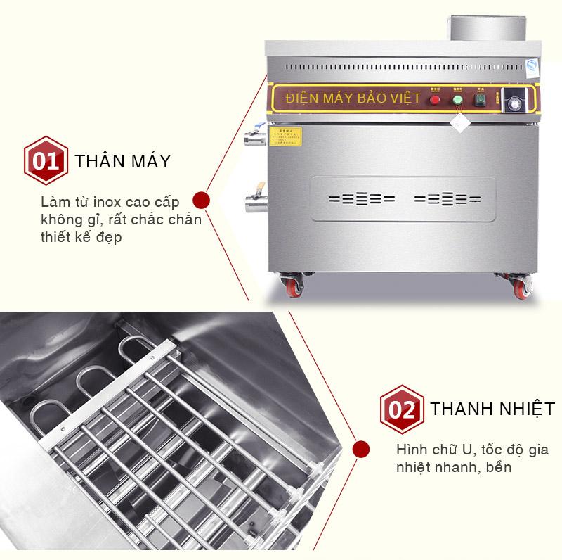 Bếp chiên bếp dầu Bảo Việt với dàn thanh nhiệt nhanh