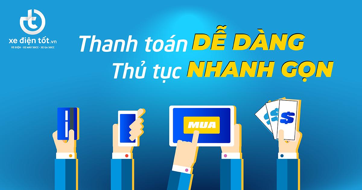 Mua hàng online thanh toán dễ dàng thủ tục nhanh gọn