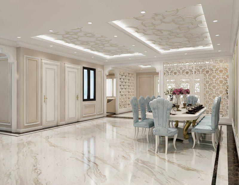 Mẫu thiết kế phòng bếp theo phong cách thiết kế nội thất Luxury