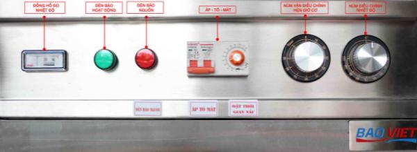 Bảng điều khiển Aptomat tủ nấu cơm Bavico