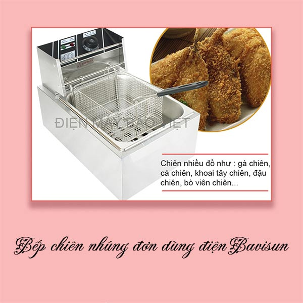 Bếp chiên nhúng đơn dùng điện Bavisun