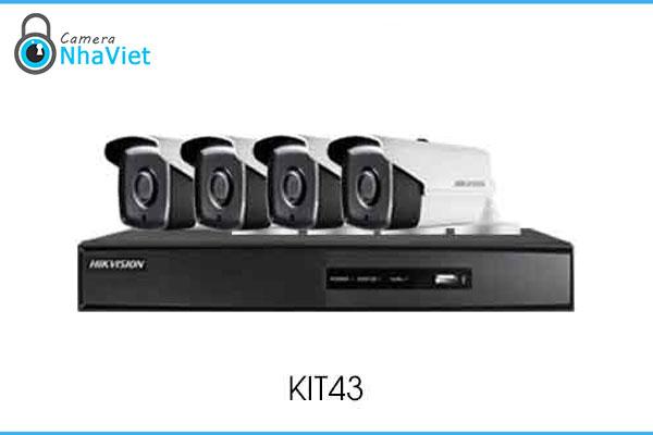 Bộ Kit Camera IP HD720P HIKVISION KIT43