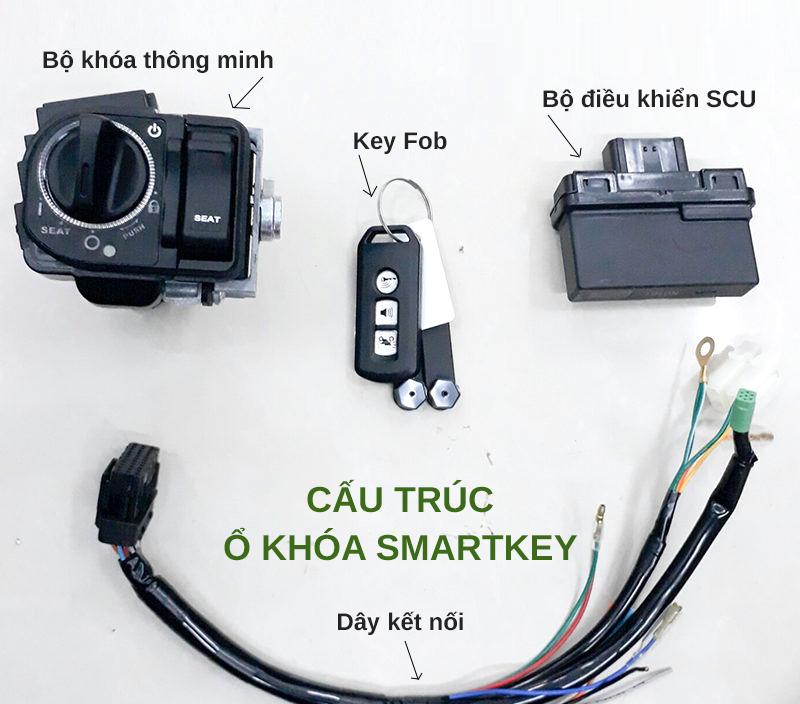 Khóa chống trộm smartkey Honda SH nhập