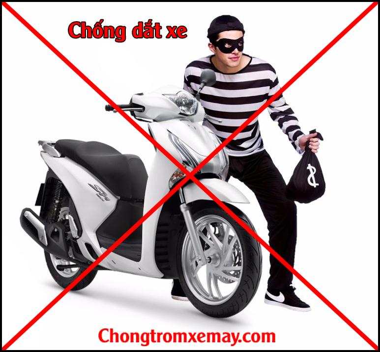 Chống dắt xe máy - Chống trộm hyperion