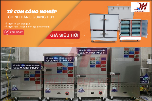 Cơ khí Quang Huy - Tủ nấu cơm công nghiệp