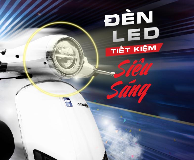 DK roma SX 50cc - Thiết kế đèn LED phân tầng đẳng cấp