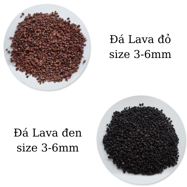 đá lava size 3-6mm