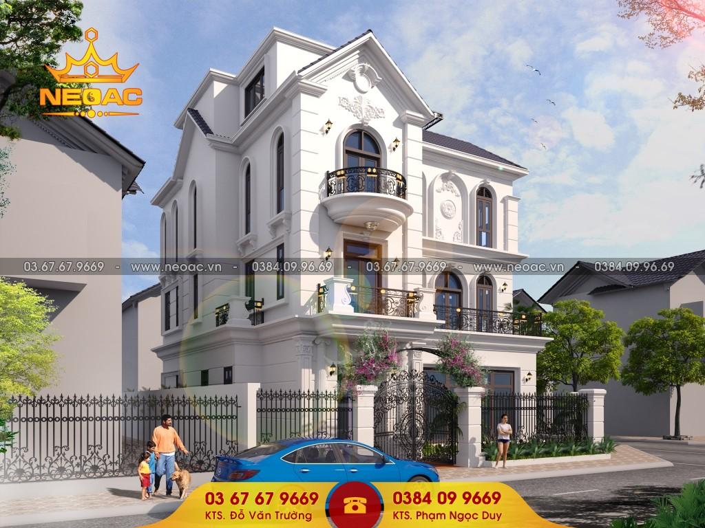 thiết kế mẫu nhà biệt thự phố 3 tầng 300m2