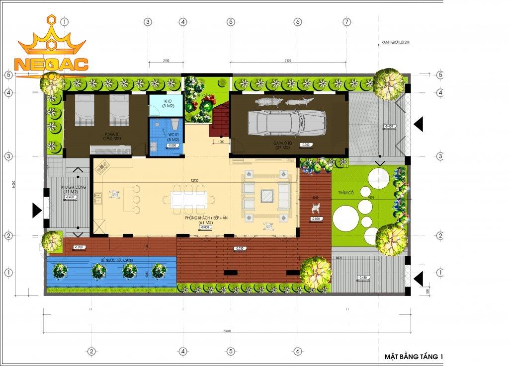 Bản vẽ thiết kế biệt thự mái Thái150m2