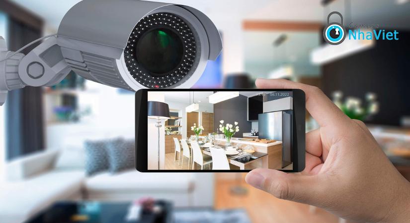 Camera giám sát an ninh lắp tại nhà bếp