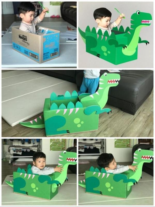 DIY cùng trẻ : đồ chơi cho trẻ từ đồ tái chế