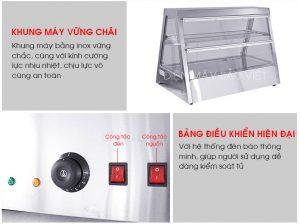 khung tủ giữ nóng thức ăn Bảo Việt