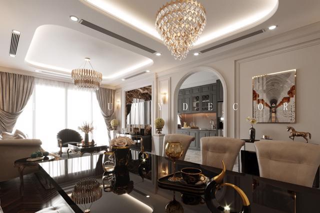 phong cách thiết kế nội thất Luxury