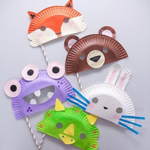 DIY cùng trẻ - mặt nạ từ giấy