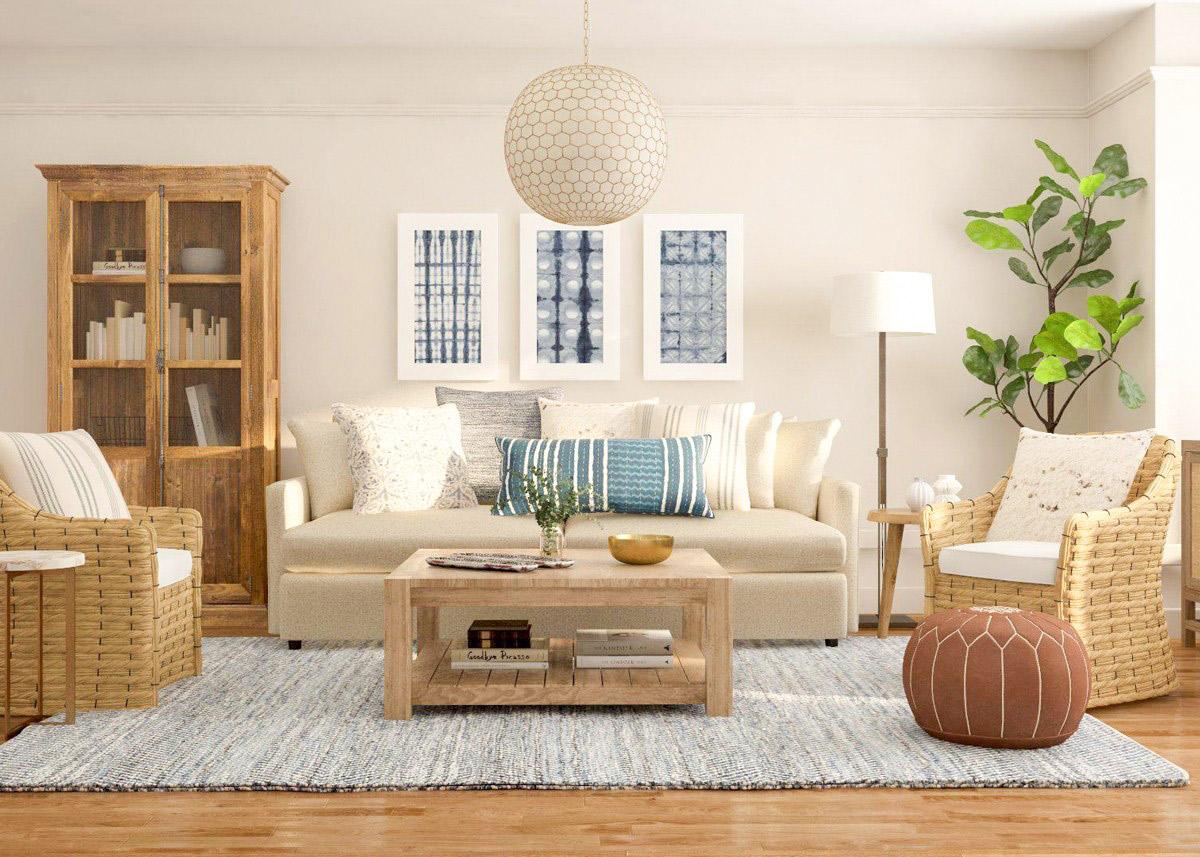 thiết kế nội thất rustic