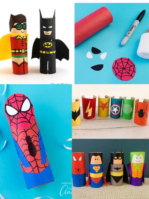 DIY cùng trẻ: làm siêu anh hùng từ lõi giấy vệ sinh