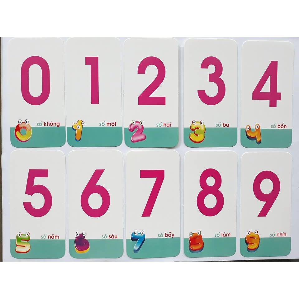 Trò chơi thẻ số phát triển tư duy cho trẻ