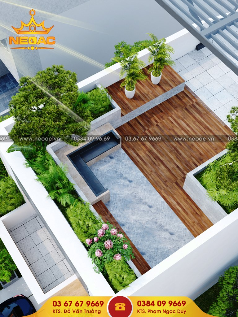 Thiết kế nhà phố 4x20m