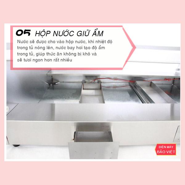 Tủ giữ nóng 2 tầng nhiệt độc lập với thiết kế thông minh, tiện lợi