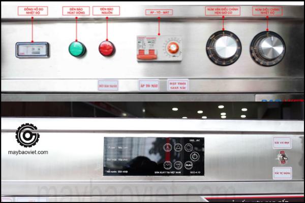 Tủ nấu cơm dùng điện aptomat và cảm ứng