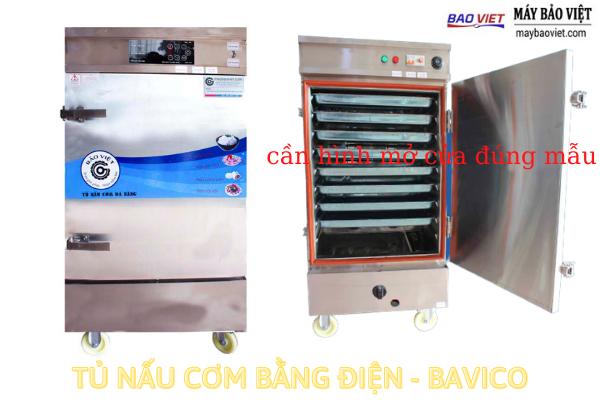 Tủ nấu cơm công nghiệp dùng điện - cảm ứng - Bavico