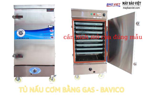 Tủ nấu cơm công nghiệp dùng gas - Bavico