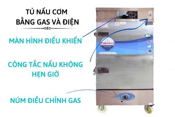Tủ nấu cơm dùng điện và gas chính hàng Bavico