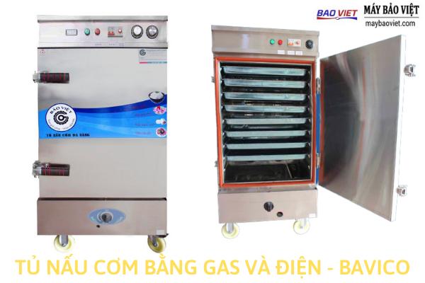 Tủ nấu cơm công nghiệp bằng gas và điện