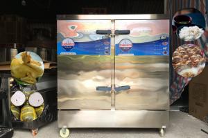 Tủ nấu cơm gas công nghiệp 100kg - 24 khay Bavico