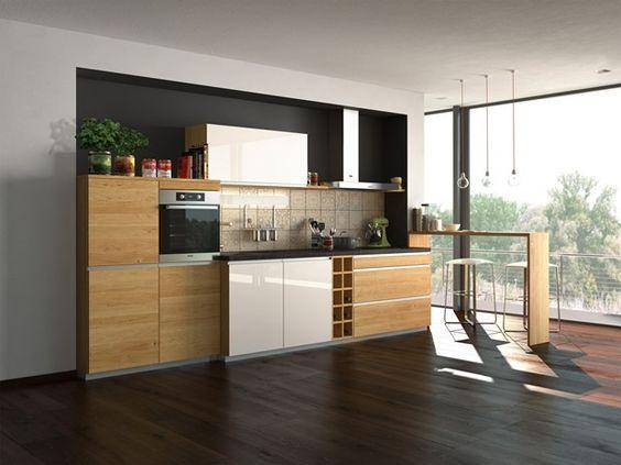 Mẫu thiết kế tủ bếp âm tường