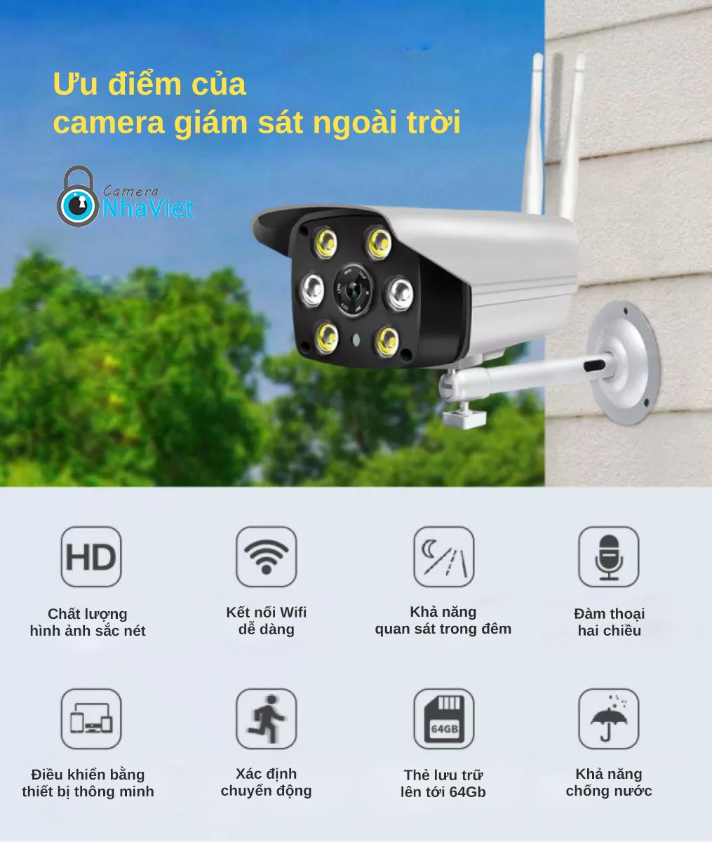 ưu điểm của camera giám sát ngoài trời