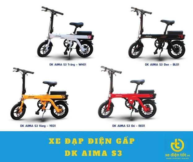 Các mẫu xe đạp điện gấp DK Aima S3