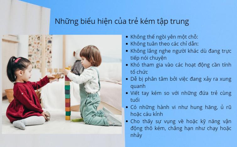 Biểu hiện của trẻ kém tập trung