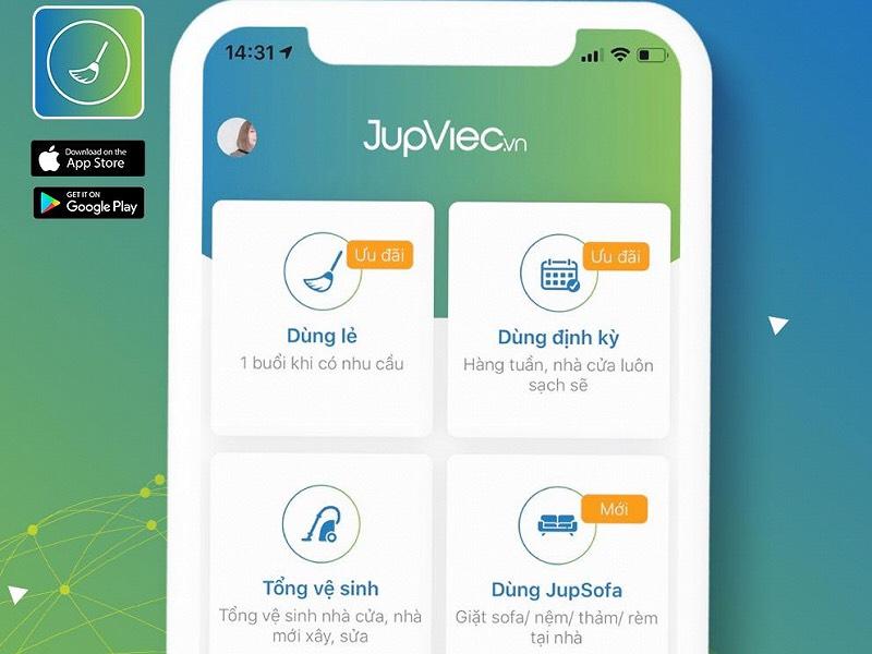 app giúp việc theo giờ