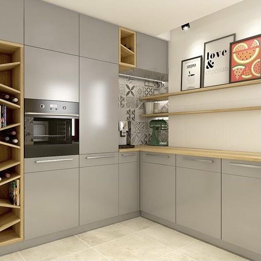 tủ bếp gỗ nhựa