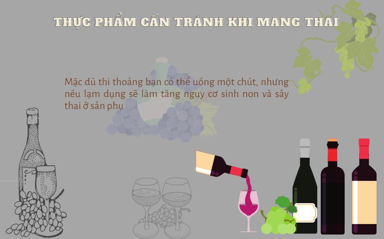 Không sử dụng đồ uống có cồn trước và sau khi mang thai
