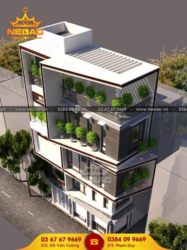 thiết kế nhà vừa ở kết hợp kinh doanh 5 tầng chi phí 850 triệu