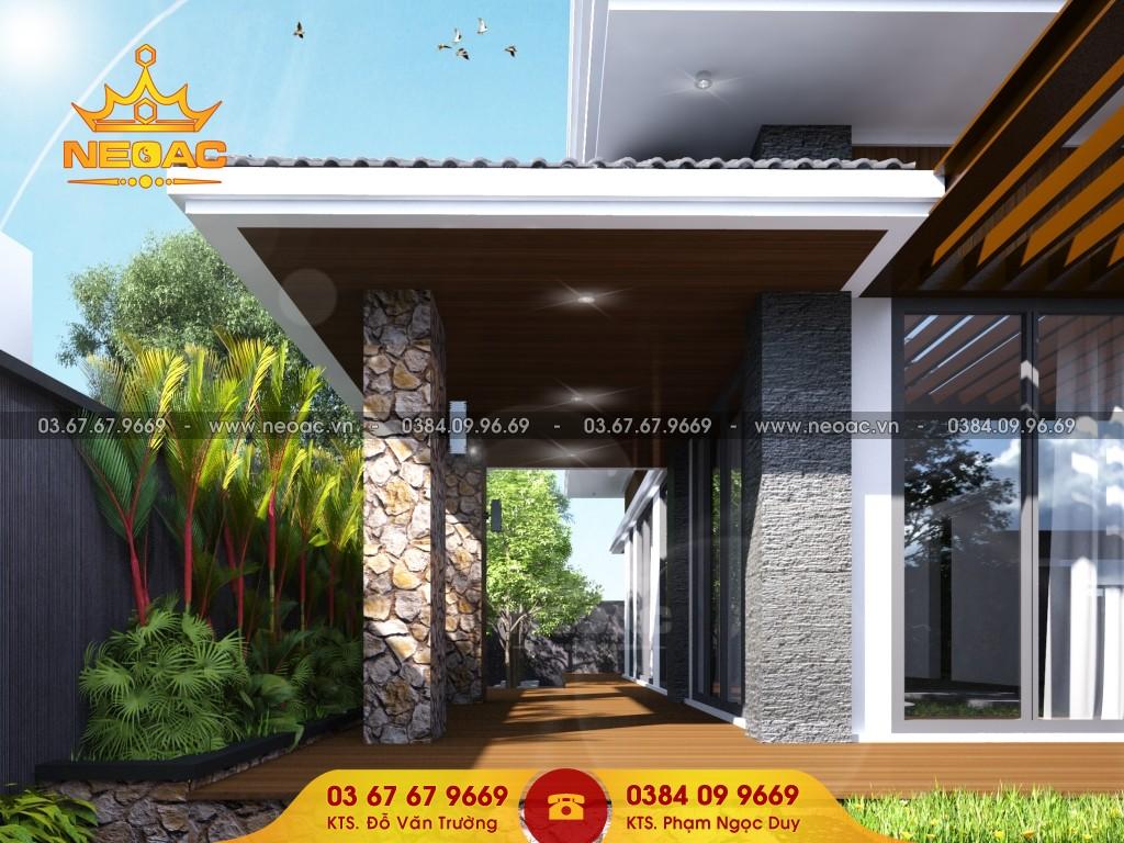 Thiết kế biệt thự 2 tầng mái Thái 150m2