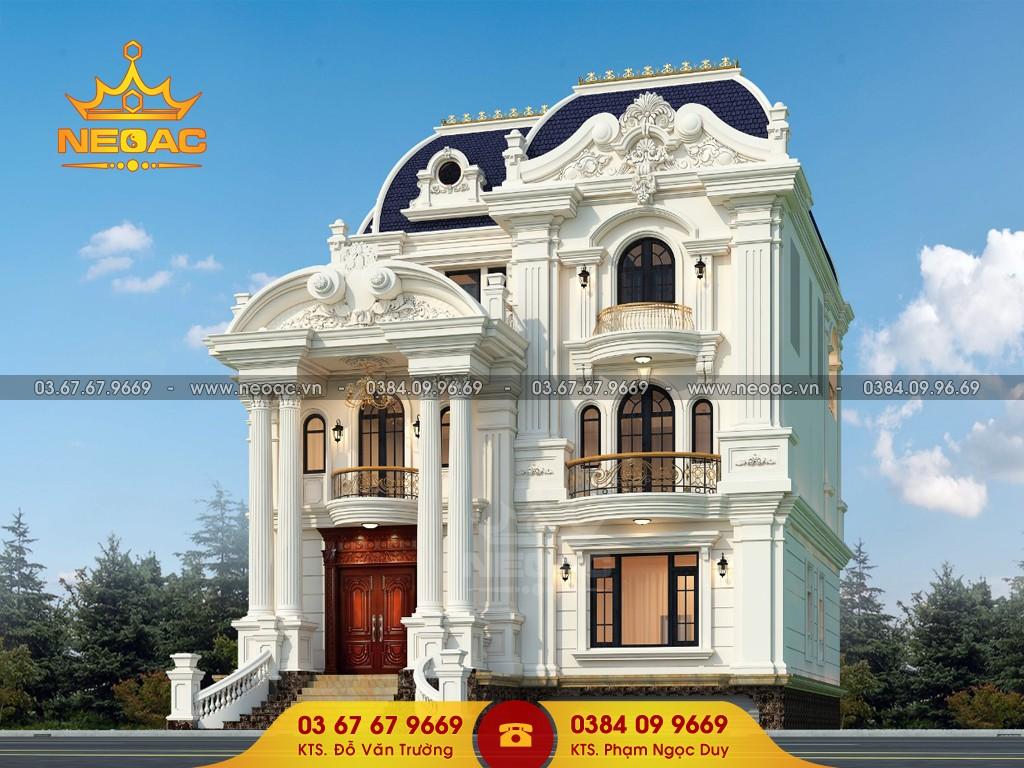 Thiết kế biệt thự 3 tầng tân cổ điển 150m2